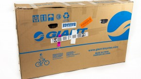 Large cardboard bicycle box
