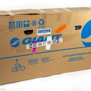 Large cardboard bicycle box