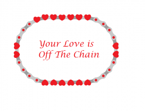 A chain with hearts