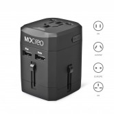 Black version of Mocreo Universal power adapter