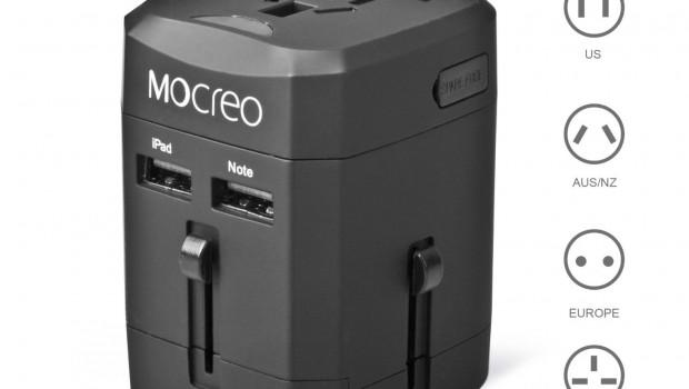 Black version of Mocreo Universal power adapter